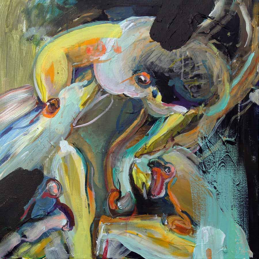 schilderij painting coen-van-ham-2018-ALMA-cargada-50x50cm