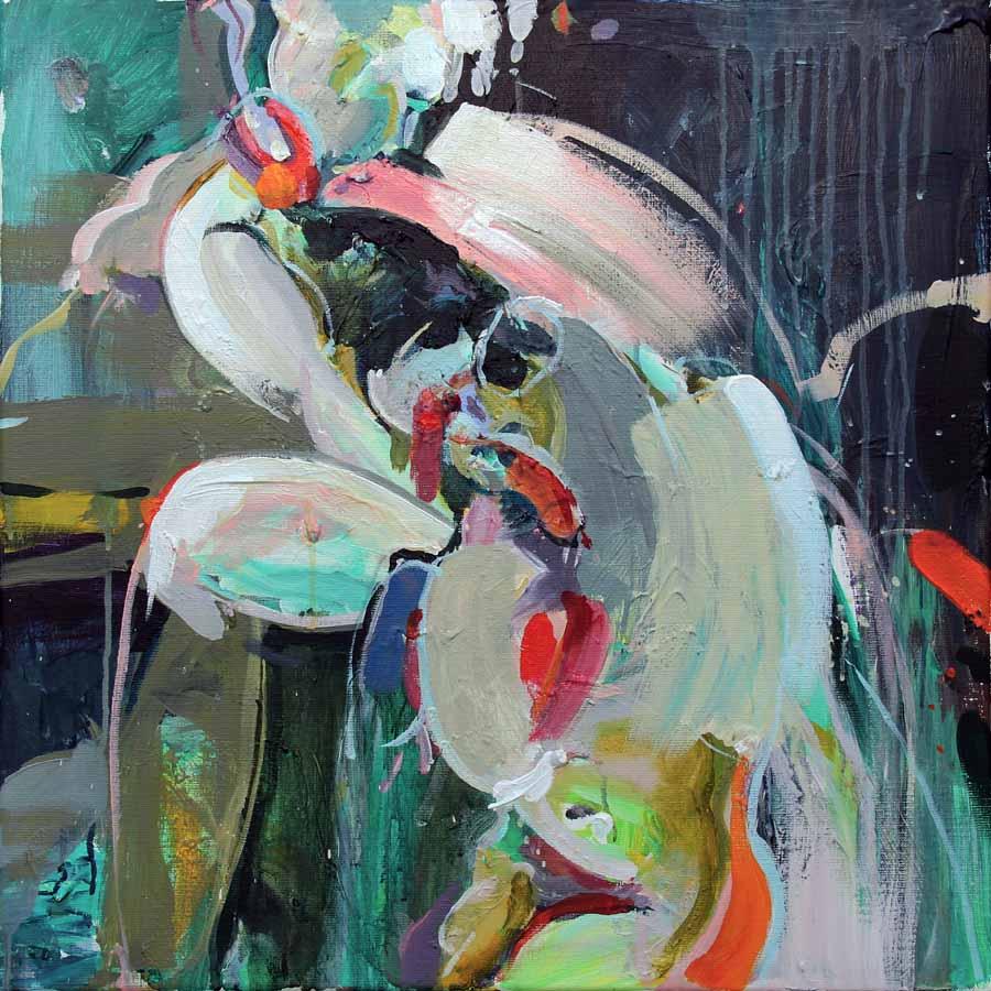 schilderij painting coen-van-ham-2018-ALMA-entrelazada-60x60cm