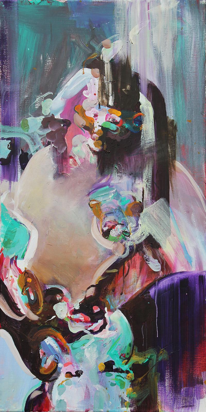 schilderen naar model abstract