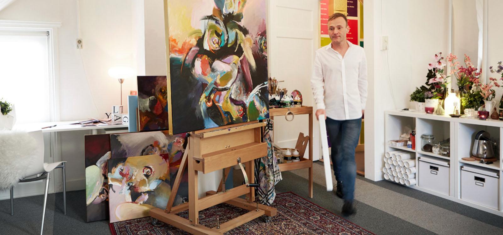 con van ham in zijn atelier aan de hoogstraat in eindhoven foto nicole minneboo