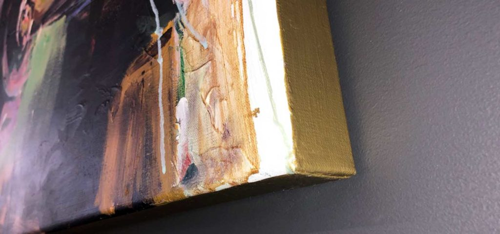 schilderij kunstenaar coen van ham gouden lijst