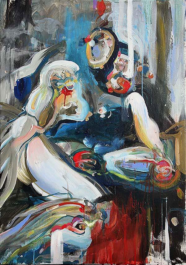 schilderij op canvas met acrylverf coen van ham