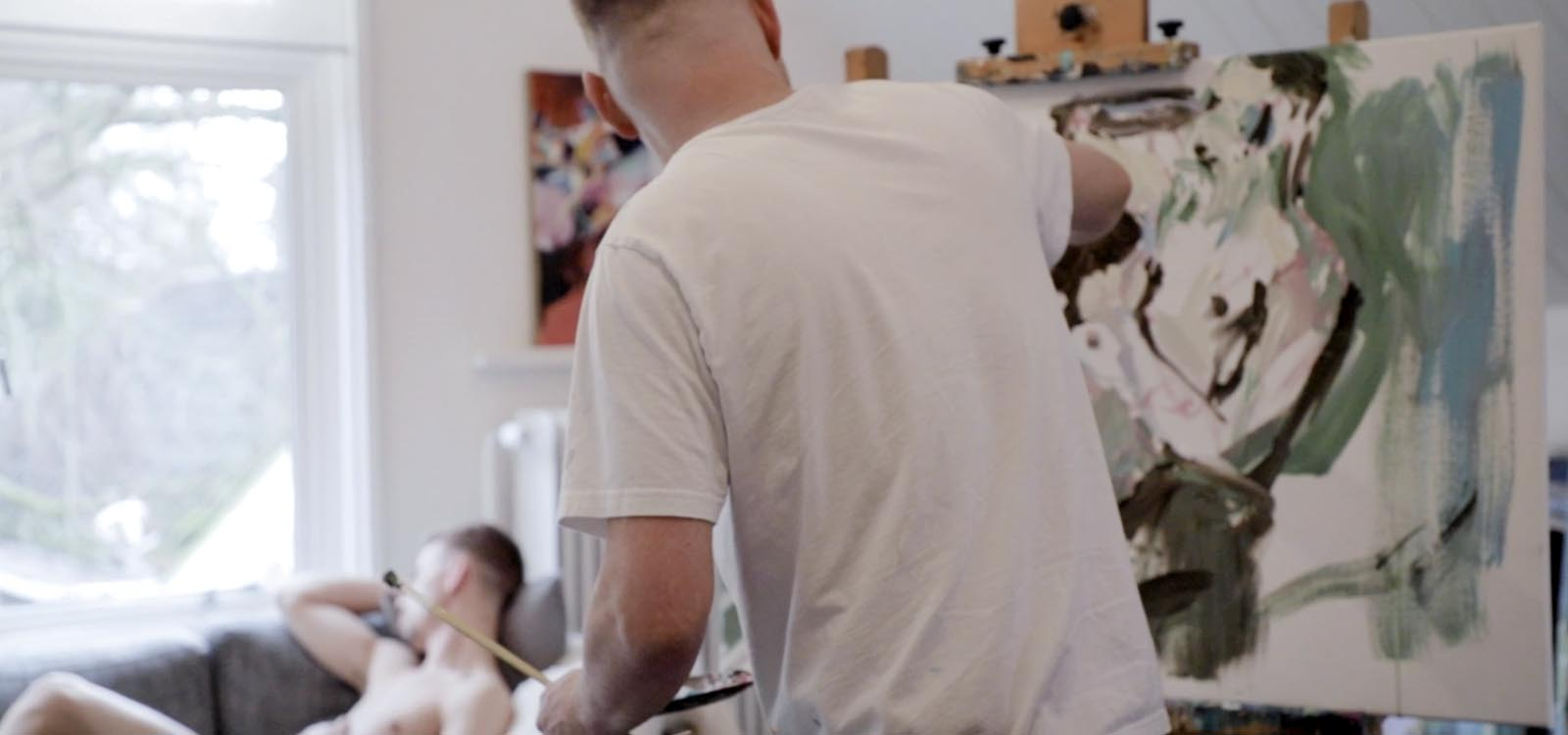 model painting coen van ham atelier